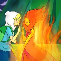 Finn and flame princess by doodle sprinkles-d5ejmy7.png