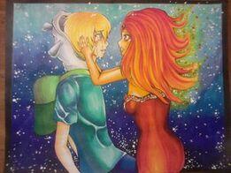 1 finn and flame princess by saichansart-d5gapaz