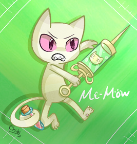 Me mow by tracythewhitecat-d53bvdd