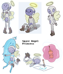 1 space angel princess and friends by abilden-d4favv2