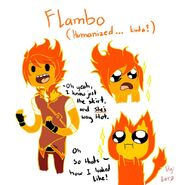 Kinda humanized flambo by epiclorraine-d4pwole