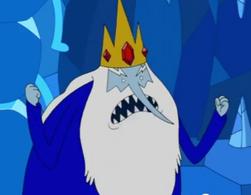Ice King, wearing his tunic