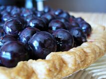 Blueberry pie natural light