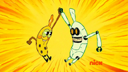 Banana and Banana Bot High Five