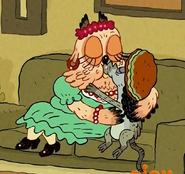 Rasta Rat Kissing Owl Lady