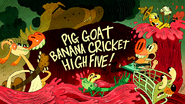 Pig Goat Banana Cricket High Five!