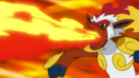 Silus Infernape Flamethrower