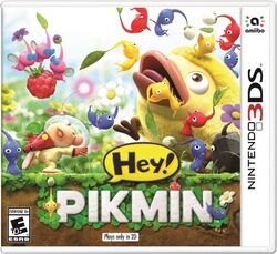 Hey! Pikmin boxart 3ds 2017