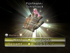 Fünfmann-Schlafsack ingame
