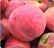 Pink peaches