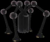Shaggy long legs (black)