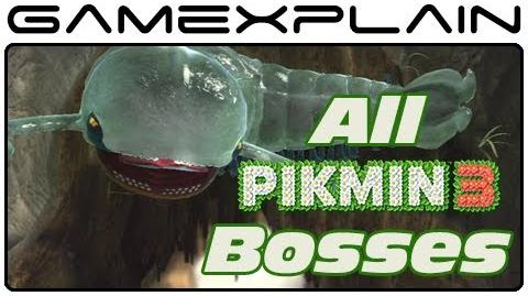 All 6 Boss Fights in Pikmin 3 (Wii U)