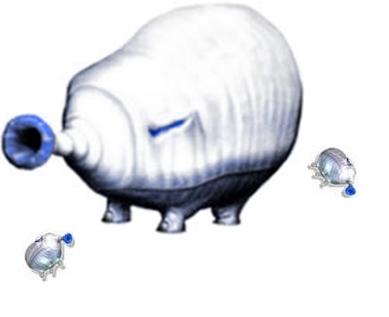 Giga Watery Blowhog with babies
