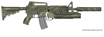 M4 SURVIVAL RIFLE CAMOFLAUGED