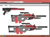P9000 Tactical assault SMG w/ ZX345 standard model pistol