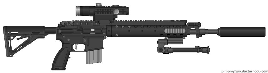 Supercheeze's Custom MK 12 SPR | Pimp My Gun Wiki | FANDOM