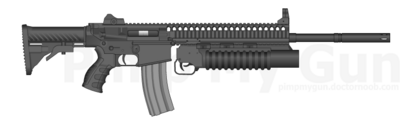 AR-20 with grenade launcher
