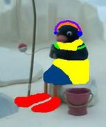 Pingu Bird Likes Tuna
