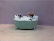 Pingu and Pinga taking a bath