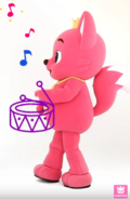 Pinkfong with drums