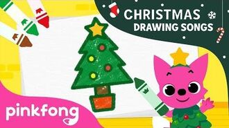 How to draw a Christmas Tree - Christmas Drawing Songs - Pinkfong Songs for Children