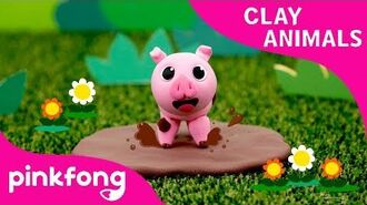 How to make a Pig with Clay - Clay Animals - DIY - Animal Songs - Pinkfong Clay Time