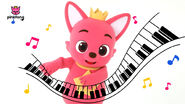 Pinkfong with piano