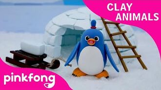 How to Make a Clay Penguin - Clay Animals - Arts and Crafts - Pinkfong Craft time for Children