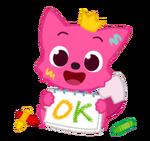 LINE Baby Pinkfong okay