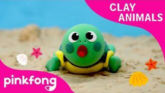 How to Make a Clay Turtle - Clay Animals - Arts and Crafts - Pinkfong Craft time for Children