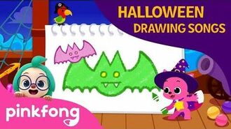 Halloween bats - Halloween Drawing Songs - Pinkfong Songs for Children