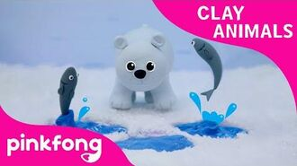 How to Make a Polar Bear - Clay Animals - Arts and Crafts - Pinkfong Craft time for Children