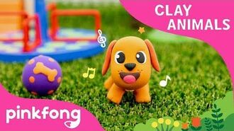 How to make a Dog with Clay - Clay Animals - DIY - Animal Songs - Pinkfong Clay Time