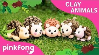 How to make a Hedgehog with Clay - Clay Animals - DIY - Animal Songs - Pinkfong Clay Time