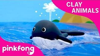 How to Make a Clay Whale - Clay Animals - Arts and Crafts - Pinkfong Craft time for Children
