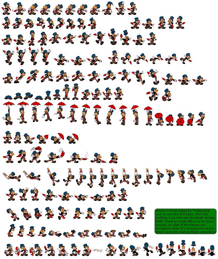 Lyric pinocchio lyrics : Image - Disney Pinocchio Jiminy Cricket Sprites.png | Disney's ...