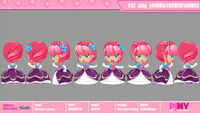 Michelle Princess model sheet