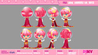 Michelle Galactic Princess model sheet