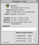 PA Pippin Navigator CD info screen