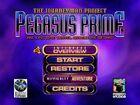PW Pegasus Prime menu screen