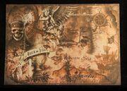 Caribbean treasure map