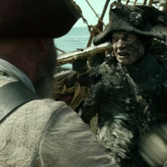 The officer executing a pirate. (<i>DMTNT</i>)