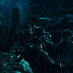 The crew running for the anchor of the <i>Black Pearl</i> in one last attempt to finally be free. (<i>DMTNT</i>)