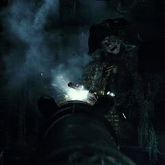 The officer about to fire a cannon at Jack Sparrow. (<i>DMTNT</i>)