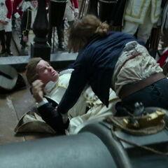 The officer is beaten by Henry. (<i>DMTNT</i>)