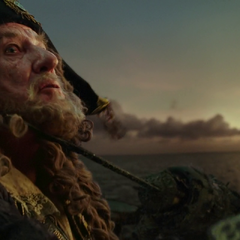 The soldier threatening Barbossa. (<i>DMTNT</i>)