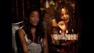"""Pirates Of The Caribbean Dead Man's Chest Naomie Harris """"Tia Dalma"""" Exclusive Interview Part 1 of 2"""