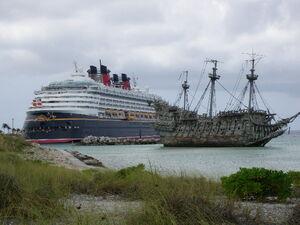 Disney Wonder and the Flying Dutchman