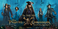 Pirates of the Caribbean Salazar's Revenge (UK) Banner Poster