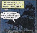 Cursed crew's pirate ship